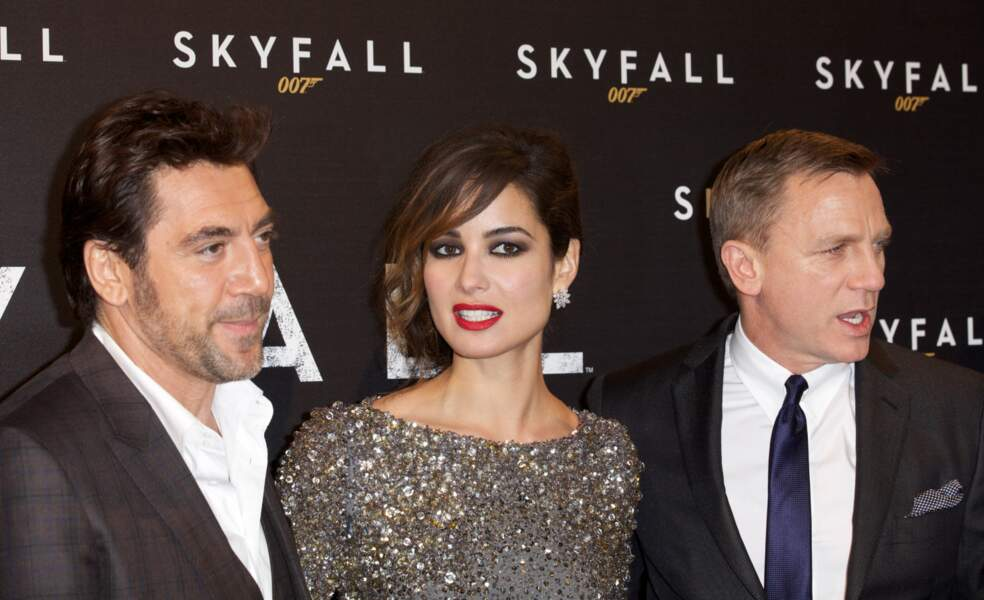 Javier Bardem et Daniel Craig aux côtés de Bérénice Marlohe