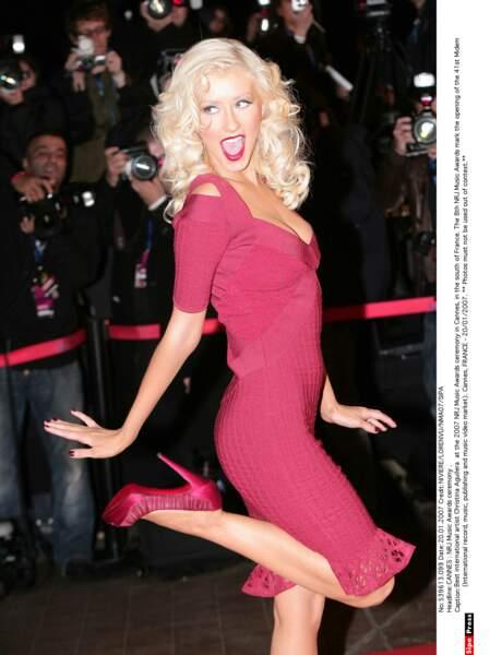 Car l'année 2007 récompense Christina Aguilera : Artiste féminine et Album international.