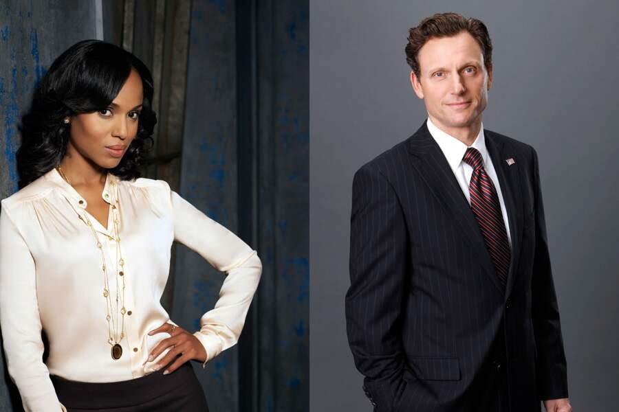 Dans Scandal, Olivia Pope et le Président des Etats-Unis tombèrent amoureux au tout début du show...