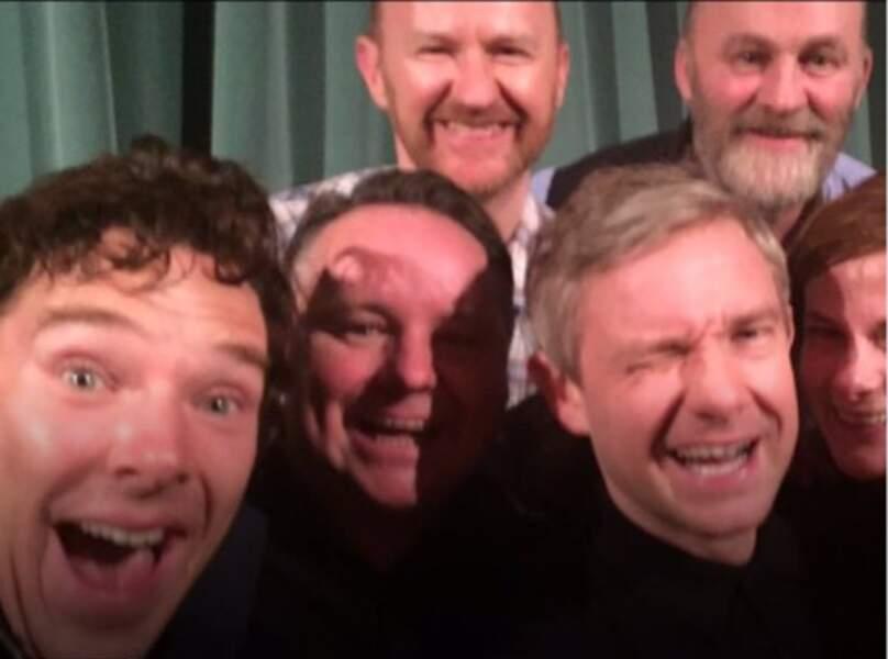 Petit selfie du casting lors d'une conférence de presse