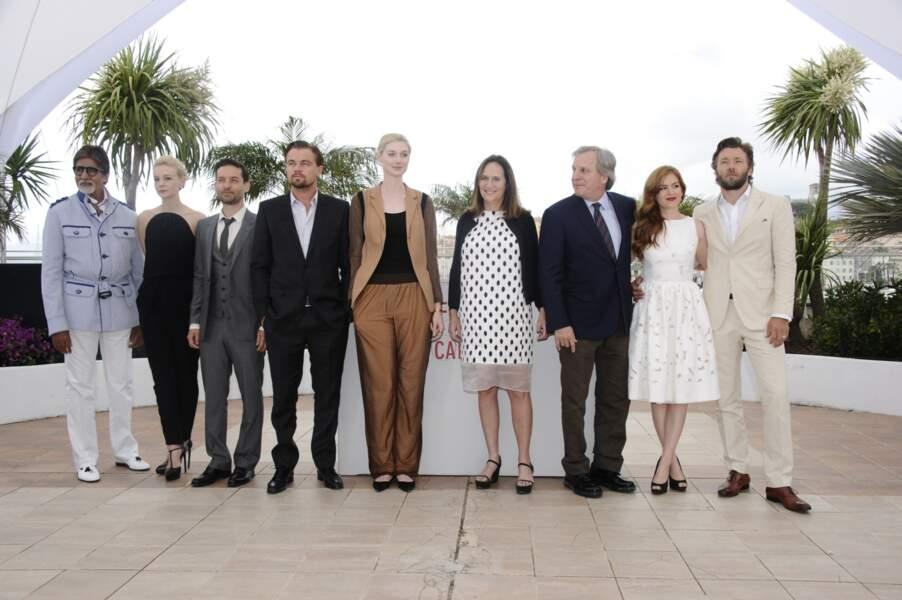 Photo-call du film d'ouverture Gatsby le magnifique avec toute l'équipe