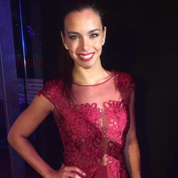 Et sa tenue lors de la cérémonie de Miss France 2015 qui a sacré Iris Mittenaere. Sublime !