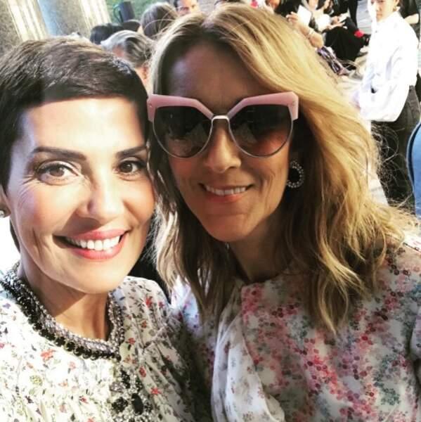 Qu'elles sont belles, les chérrrrrries ! Selfie pour Cristina Cordula et Céline Dion à Paris.