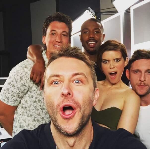 Un célèbre internaute américain fan de cinéma et de séries a eu son selfie avec les 4 (nouveaux) Fantastiques
