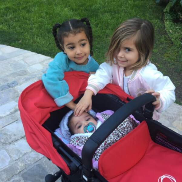 Trop mignonnes, ces cousines du clan Kardashian : North, Penelope et Dream.