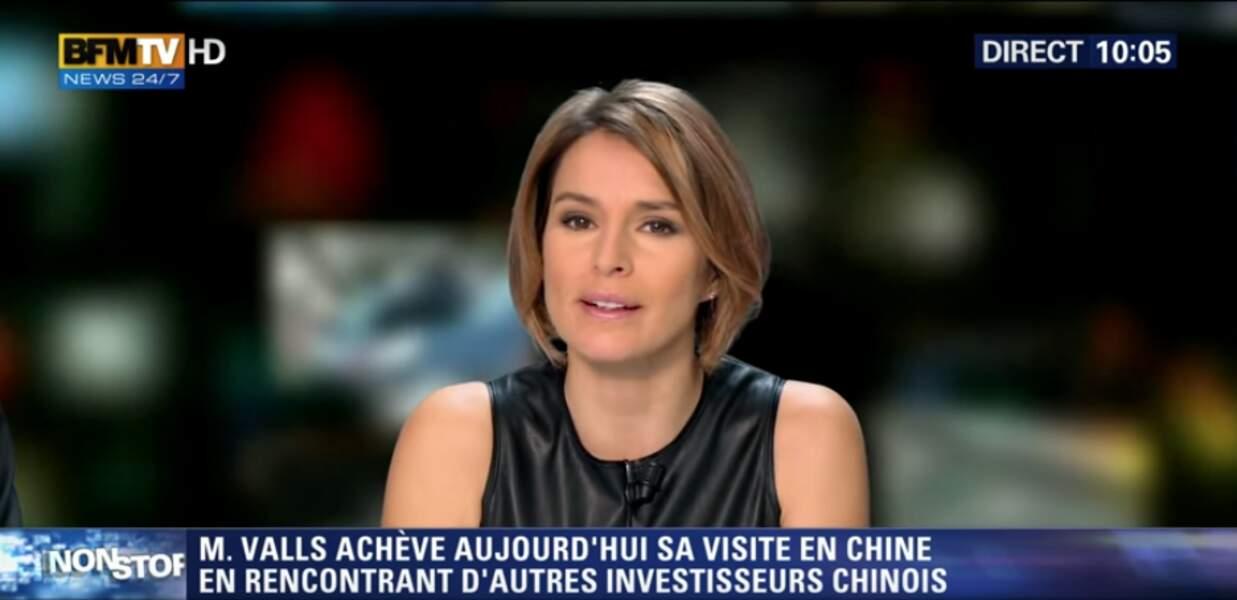 Stéphanie de Muru est sur l'antenne de BFMTV tous les samedi et dimanche matin