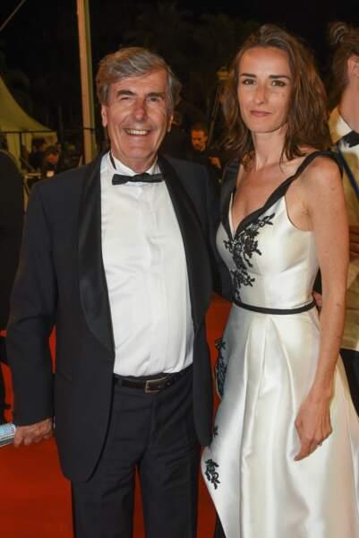 Bernard Ménez et Salomé Stévenin à la montée des marches d'Un couteau dans le cœur