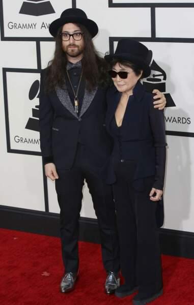 Yoko Ono, Madame John Lennon, et leur fils Sean