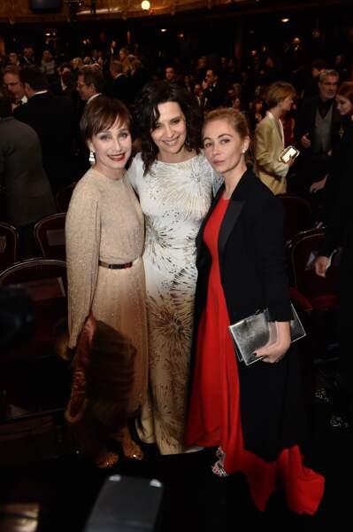 Kristin Scott Thomas, Juliette Binoche et Emmanuelle Béart