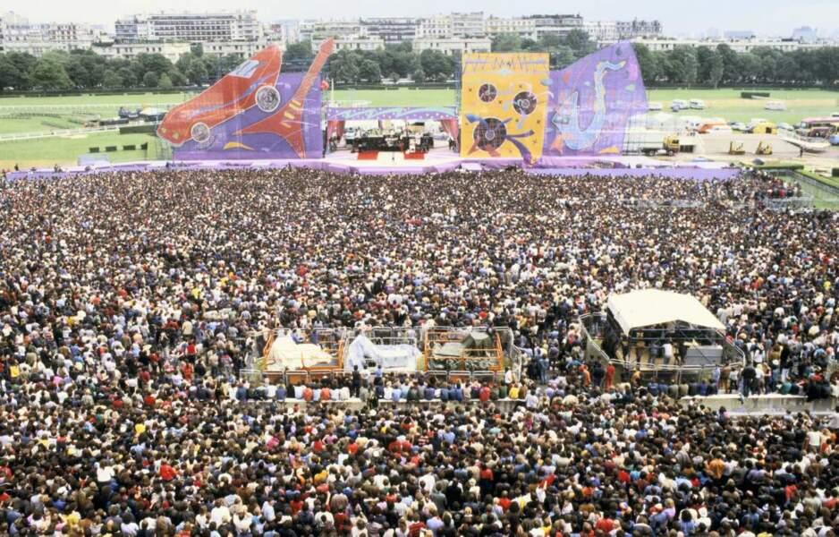 Les Rolling Stones en concert à Paris en 1982
