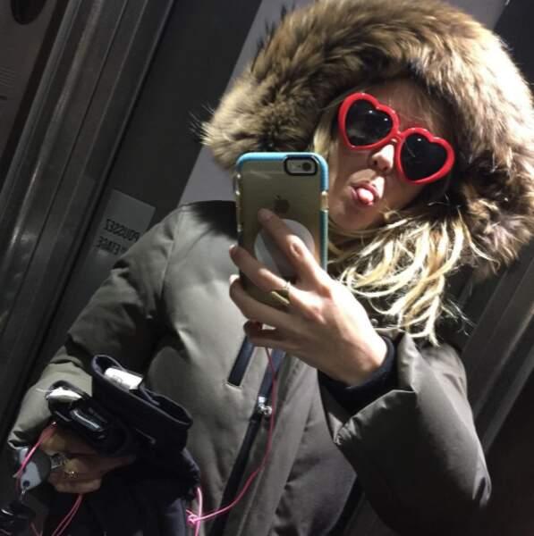 Pendant ce temps-là, Enora Malagré a montré qu'elle était prête pour le ski.