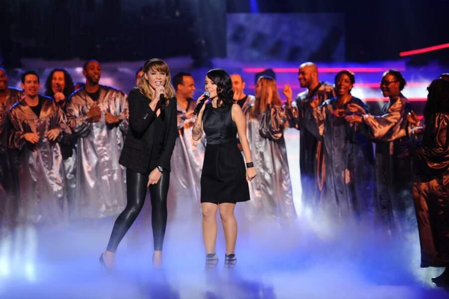 Chimène Badi et Alizée, les dames en noir