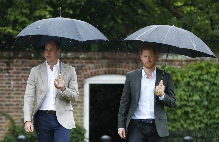 William et Harry ont ensuite visité le jardin de Kensington conçu en souvenir de Diana