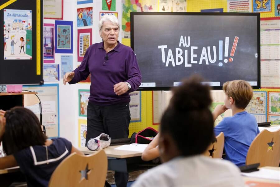 """En 2018, Bernard Tapie participe à l'émission """"Au Tableau !"""", sa dernière apparition à la télévision"""