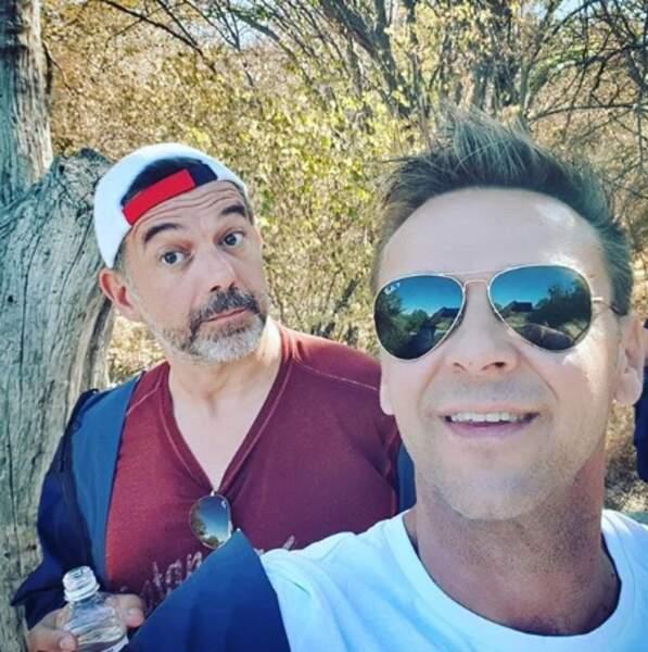 Stéphane Plaza et Jeanfi Janssens étaient au Zimbabwe pour un petit safari.