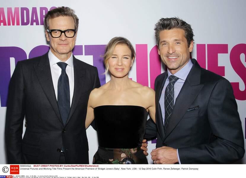 En 2016, il a formé le nouveau trio de Bridget Jones 3