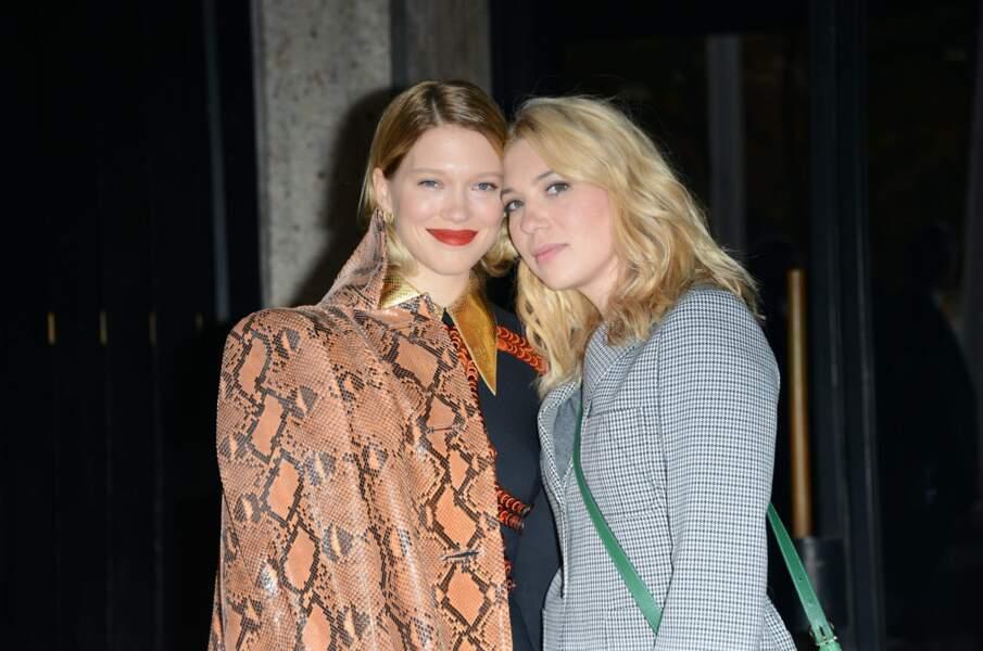 Léa, actrice, et Camille Seydoux, styliste de stars (dont Adele Exarchopoulos et sa soeur Léa, pratique).