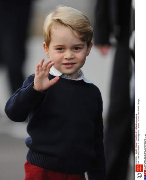 Au Canada, le petit garçon de 3 ans a une vraie démarche de star