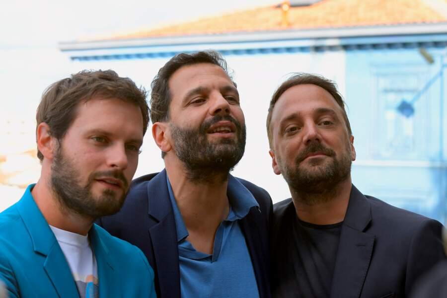 Hugo Becker, Mehdi Nebbou et Louis Julien Petit, trois des membres du jury du Festival