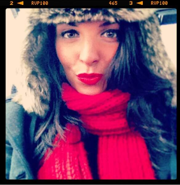 Ludivine Aubourg (The Voice) en mode chapka girl