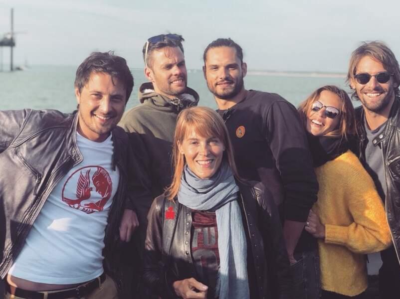 Vincent Cerutti avec Nathalie Simon, Florent et Laure Manaudou et Camille Lacourt