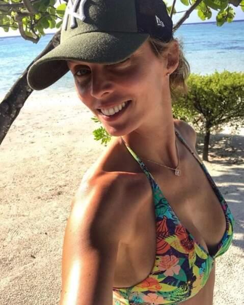 Sylvie Tellier profitait à fond de ses derniers instants à Tahiti.