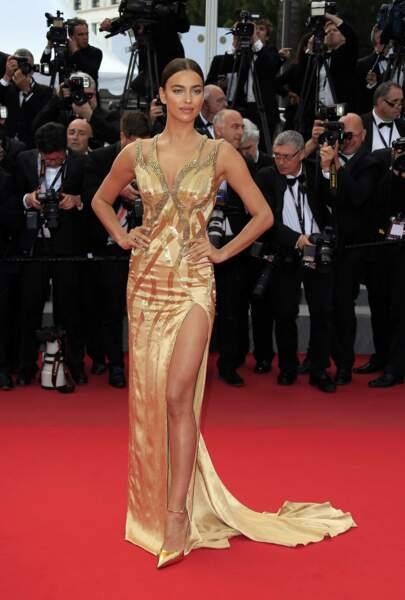 Irina Shayk a brillé sur le red-carpet !