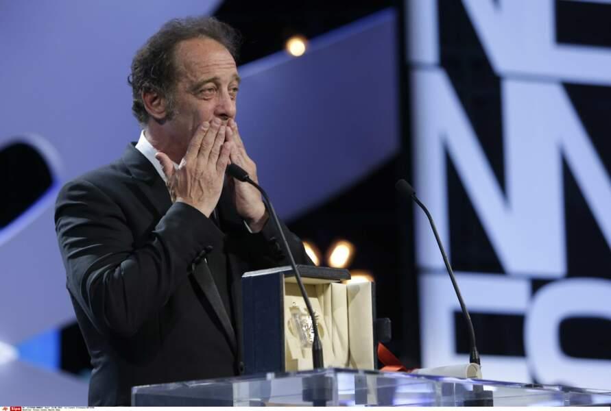 """2015 : Prix d'interprétation pour """"La loi du marché"""", Vincent Lindon émeut toute l'assistance"""