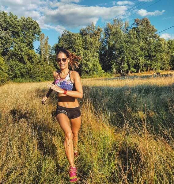 Laury Thilleman s'est entraînée pour la Spartan Race qui aura lieu dans l'Utah.