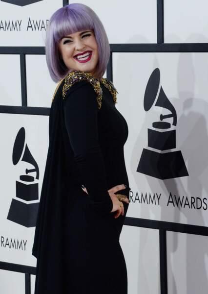Kelly Osbourne, tous cheveux violets dehors...