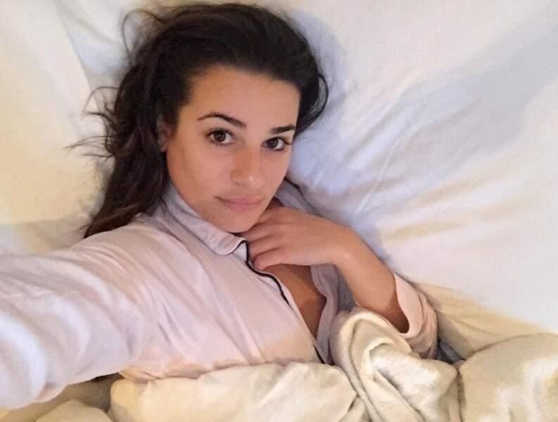 Même au saut du lit, l'actrice est ravissante
