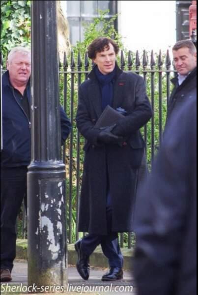 Benedict Cumberbatch concentré avant le début du tournage londonien