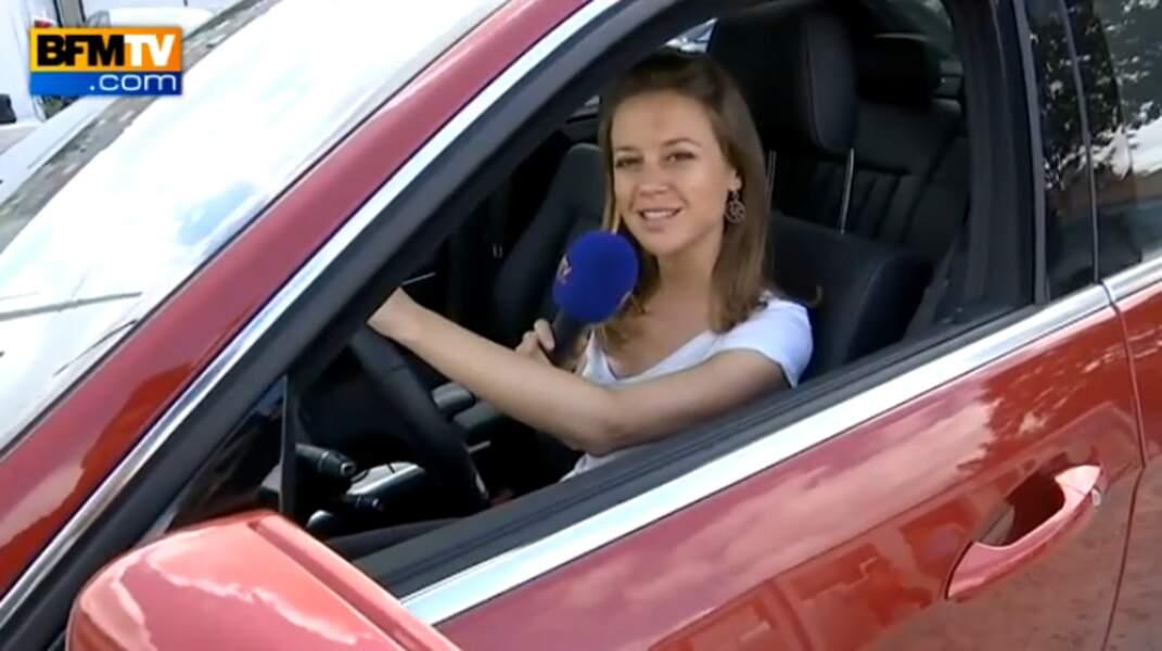 Quand Céline Pitelet n'est pas sur le terrain, elle accompagne les téléspectateurs de BFMTV les samedi et dimanche