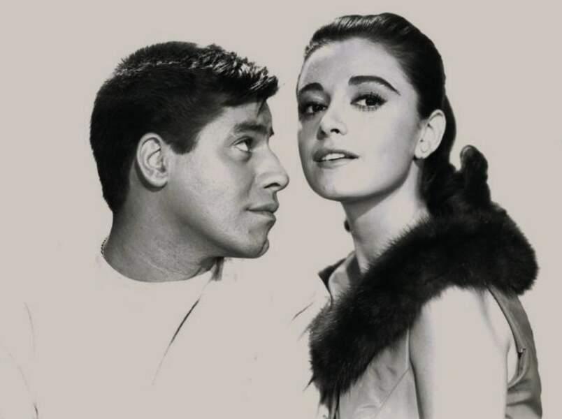 """Anna Maria Alberghetti et Jerry Lewis dans """"Cendrillon aux grands pieds"""" en 1960"""