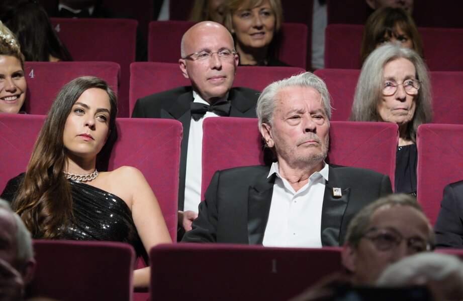 Alain Delon pendant son hommage