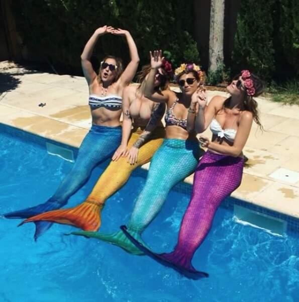 En vacances avec les copines, Marilou Berry a sorti sa plus belle tenue de sirène !