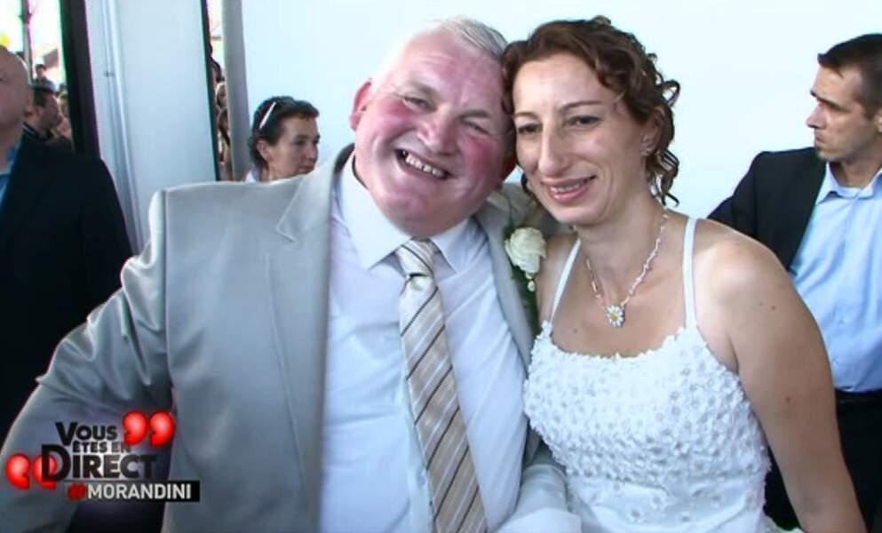 Thierry et Annie affichent leur bonheur