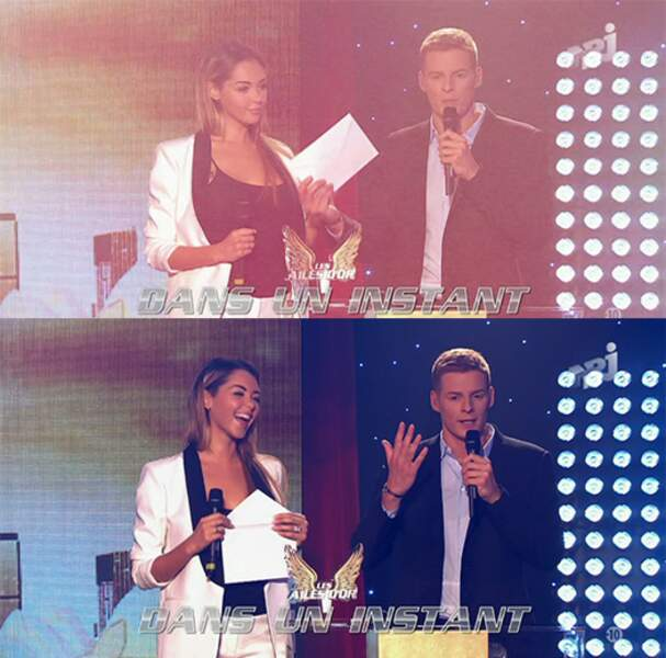 And the winner is : Nabilla et son petit tailleur bicolore ! On aime ce look sobre et sexy