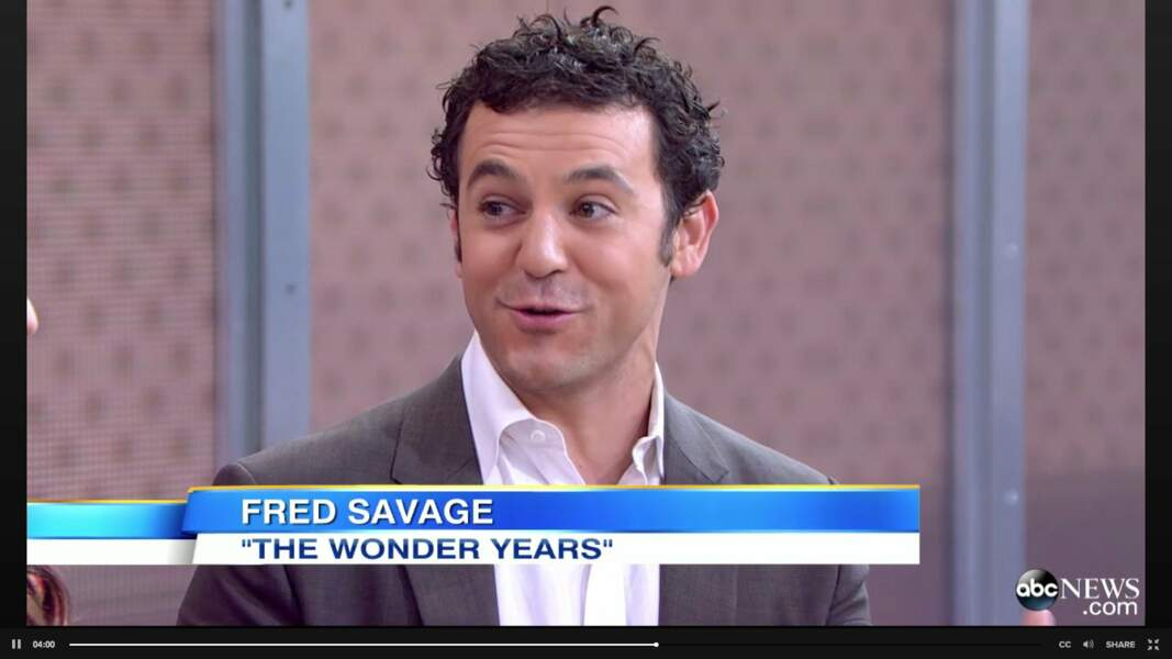 L'occasion au passage de vous montrer à quoi ressemble Fred Savage (Kevin Arnold) aujourd'hui