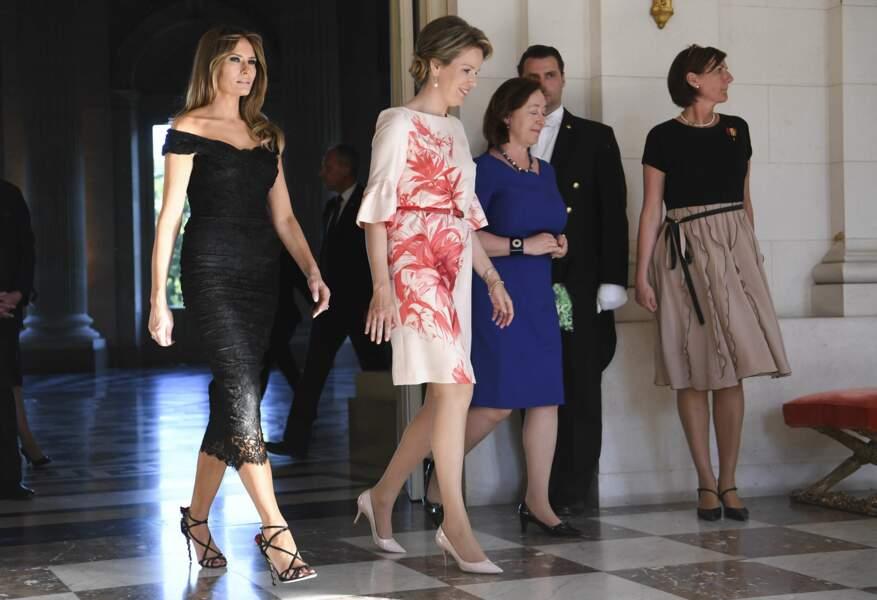 Pour rencontre la reine Mathilde de Belgique, Melania Trump s'est même changée dans la journée