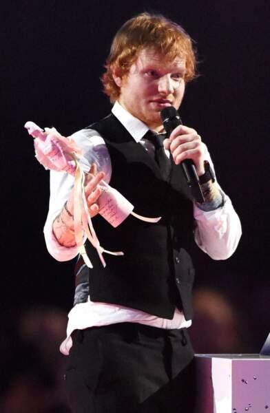 Ed Sheeran est reparti avec l'award du Meilleur artiste britannique et de l'album de l'année. Mérité !