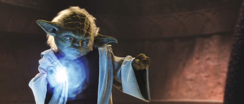 Yoda très énervé dans L'Attaque des clones
