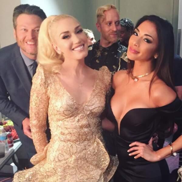Gwen Stefani et Nicole Scherzinger ont été photobombées par ce coquin Blake Shelton.