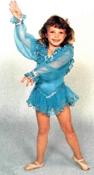 Une petite fille qui se voyait déjà être une grande star...