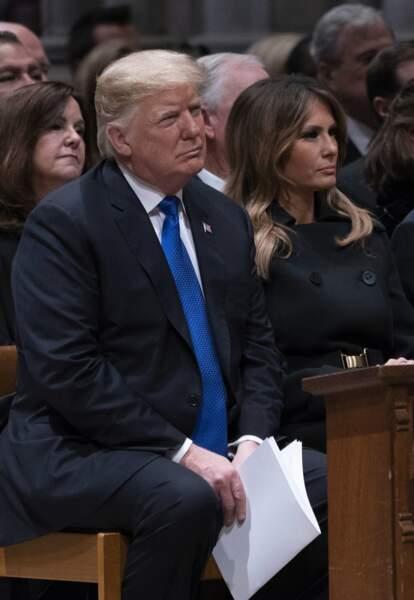 L'actuel président Donald Trump et son épouse Melania