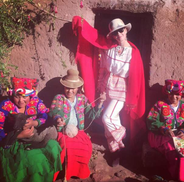 Et Katy Perry s'éclate au Pérou.