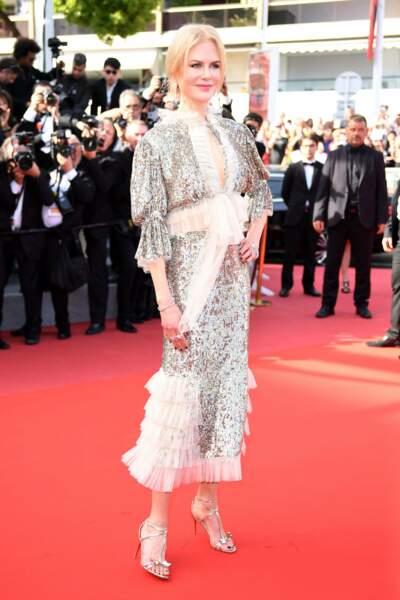 Nicole Kidman a brillé lors de la montée des marches du film How to Talk to Girls at Parties