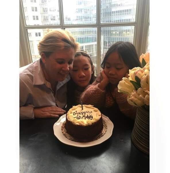 Hélène Darroze et ses deux filles, à New-York