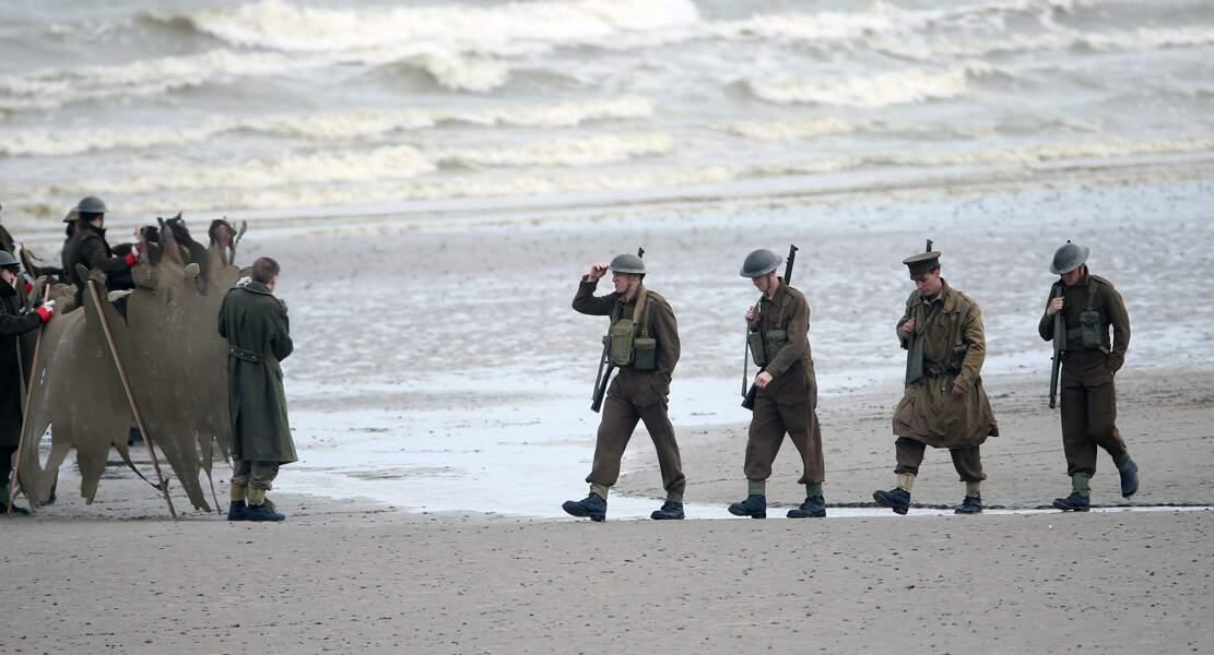 Drôle de défilé sur la sable !