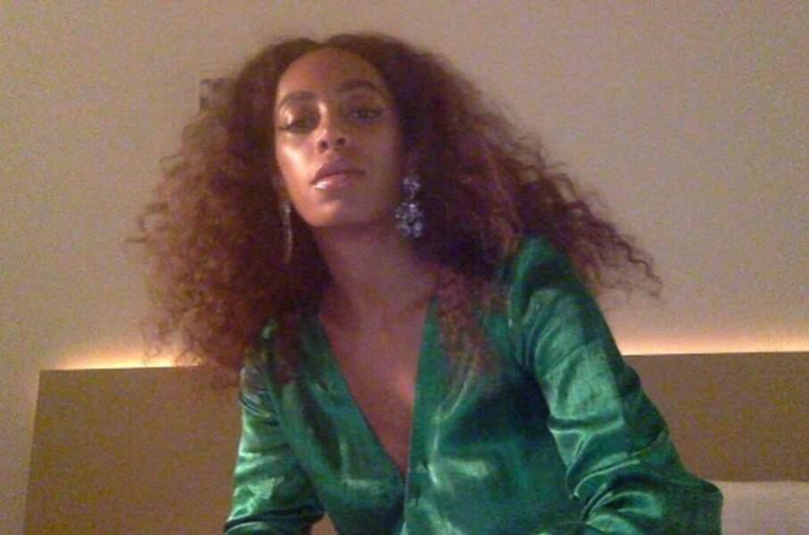 Solange Knowles a fait mumuse avec sa webcam.